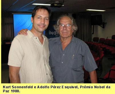 Kurt Sonnenfeld e Adolfo Pérez        Esquivel, Prémio Nobel da Paz        1980.