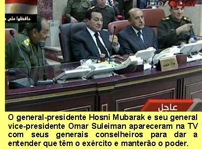 Mubarak e Suleiman.