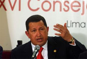 Chávez na XVII Cimeira Ibero-americana.