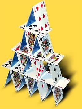 Castelo de cartas.