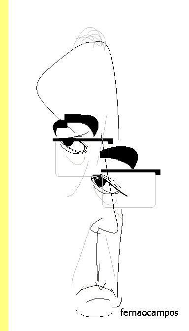 Juan José Milas, cartoon de Fernão Campos.
