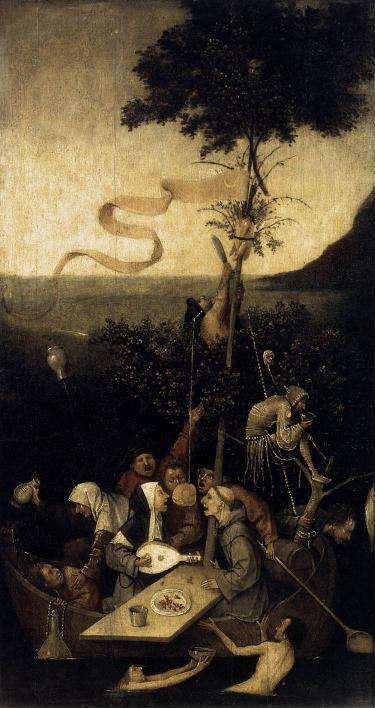 Hieronymus Bosch, 'Nau de loucos', c.1500. CLIQUE PARA AMPLIAR