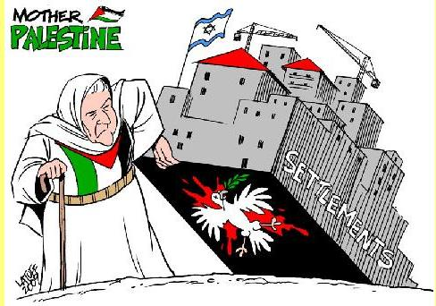 Colonatos. Cartoon de Latuff.