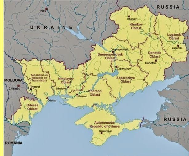 Novorússia e Crimeia.