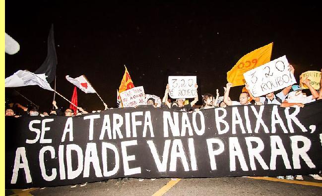 Manifestação em S. Paulo.