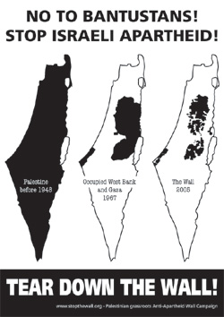 Os bantustans no apartheid de Israel.