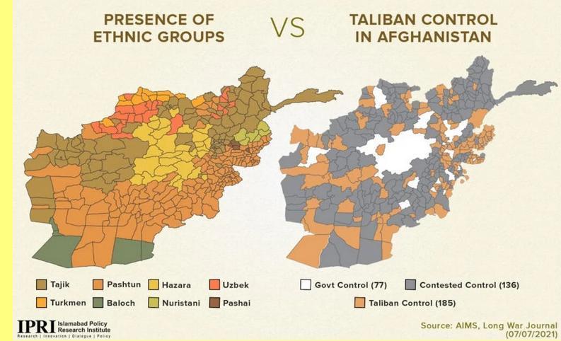 O Taliban já controla a maior parte do país.