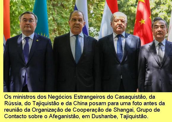 Reunião da Organização de Cooperação de Shangai em Dushanbe, Julho/2021.