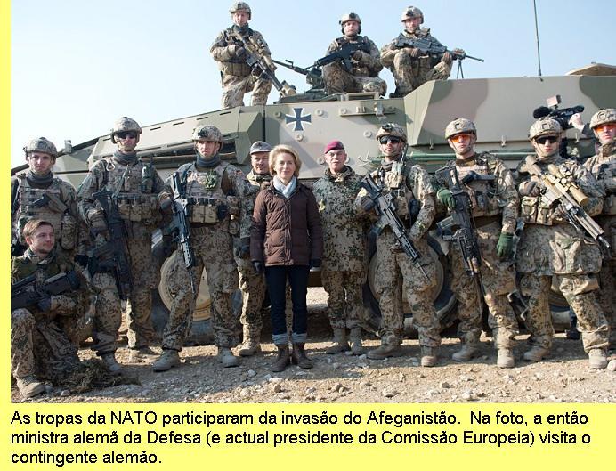 A ministra alemã da Defesa visita do Afeganistão.