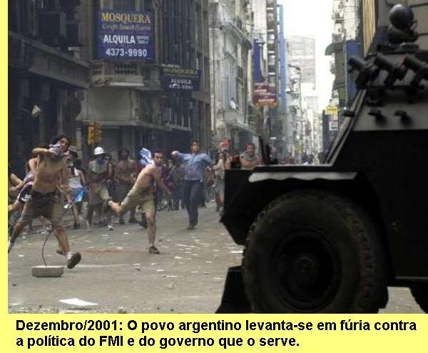 A sublevação argentina.