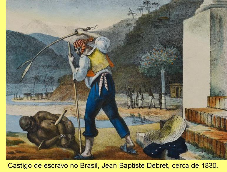 'Castigo de escravo no Brasil', Jean Baptiste Debret.