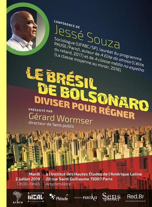 Cartaz da conferência de Jesse Souza.