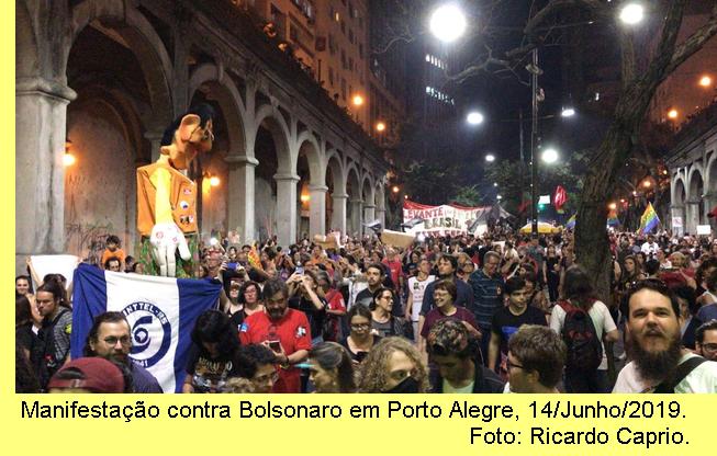 Manifestação em Porto Alegre.