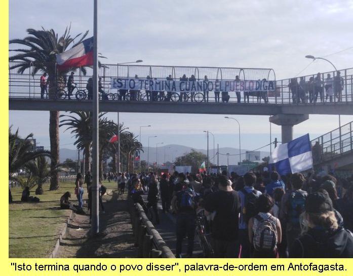 Manifestação em Antofagasta.