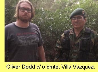 Oliver Dodd com o Comandante Villa Vazquez.