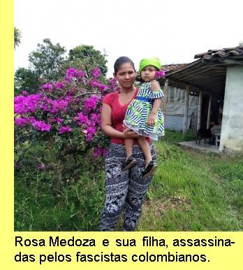 Rosa Mendoza e sua filha.