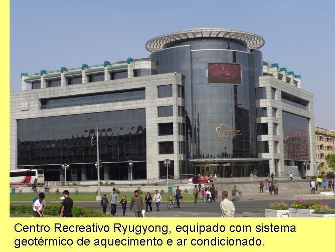Centro recreativo com sistema geotérmico.