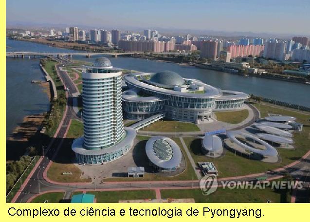 Complexo de ciência e tecnologia em Pyongyang.