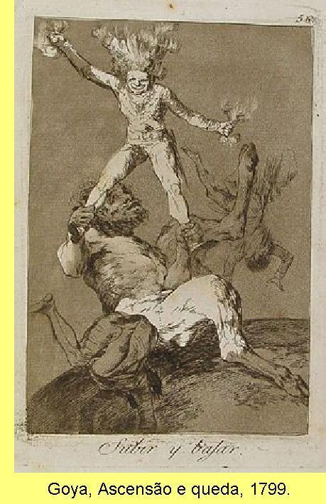 Goya, Ascensão e queda, 1799.
