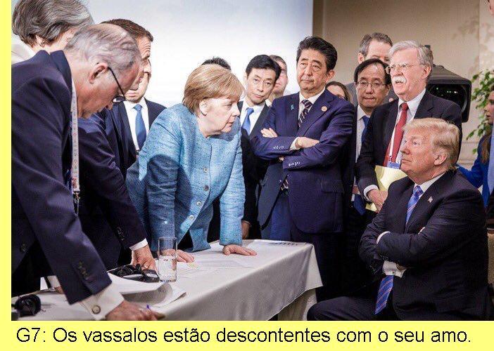 Trump na cimeira do G7, no Canadá.
