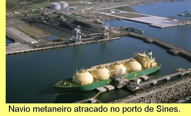 Navio metaneiro para o transporte de GNL.