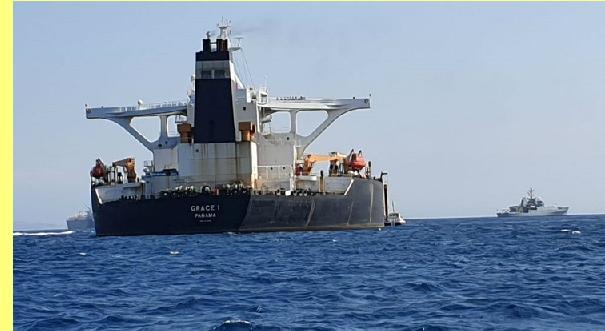 O 'Grace 1' apresado em Gibraltar.