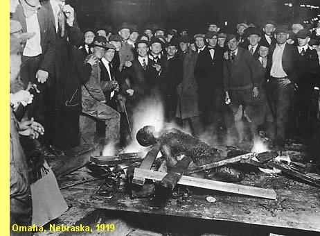 Linchamento de negro em Omaha, Nebraska, 1919.