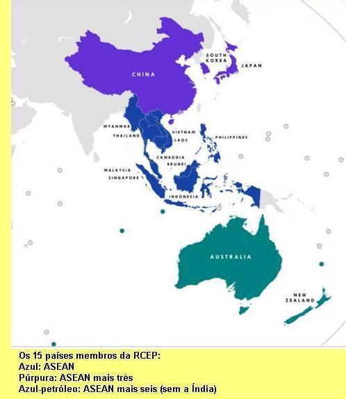 Países da RCEP.