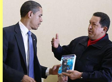 Obama e Chávez.