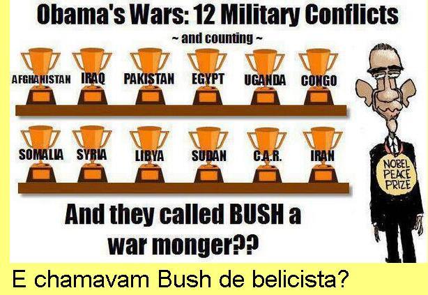 As guerras deste Prémio Nobel da Paz.